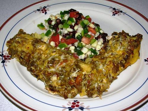 new mexico green chili enchiladas